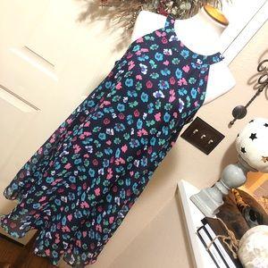 Betsey Johnson Floral Print Flowy Midi Dress 🌺